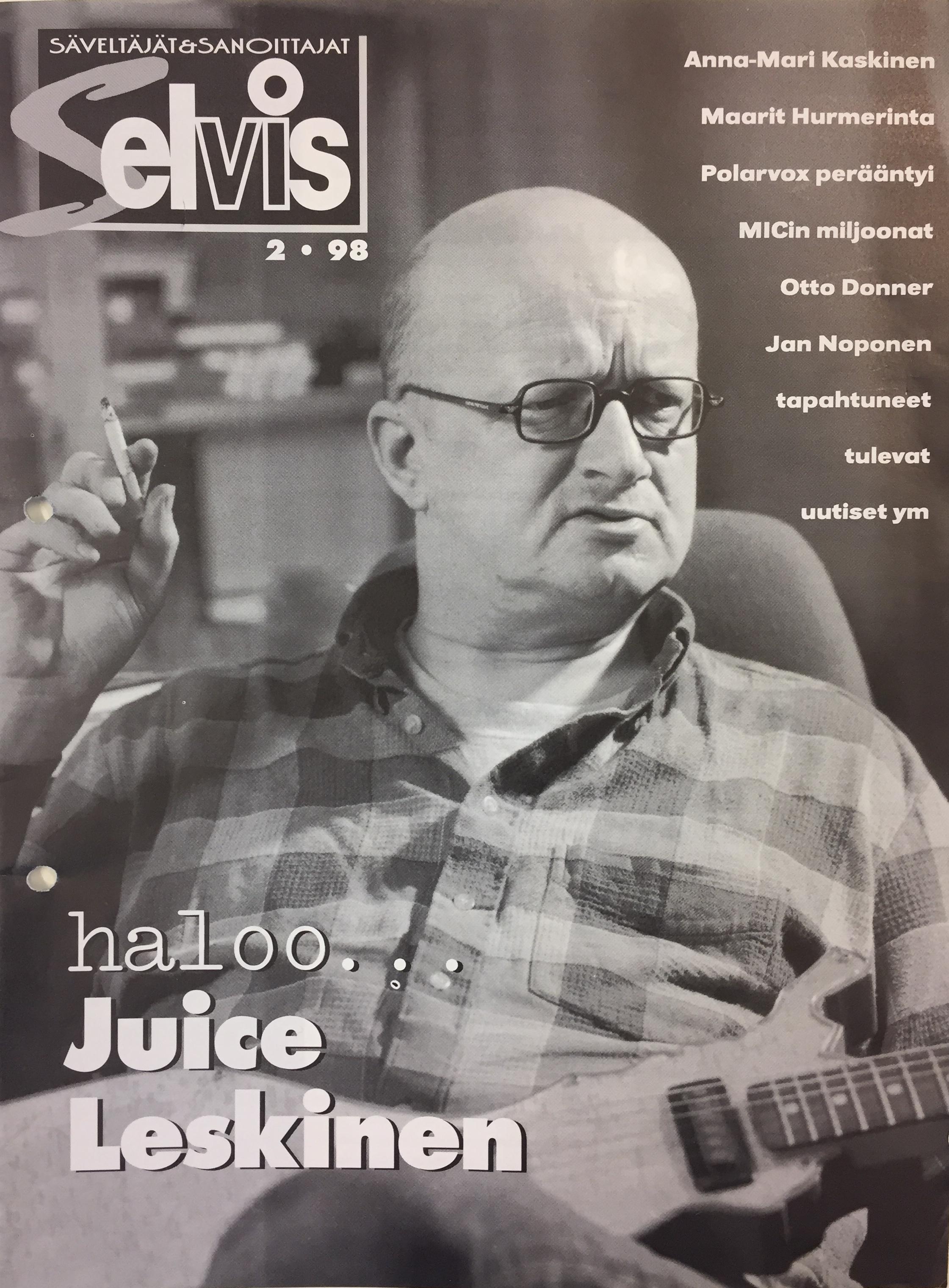 Lehden kansi: 2/1998