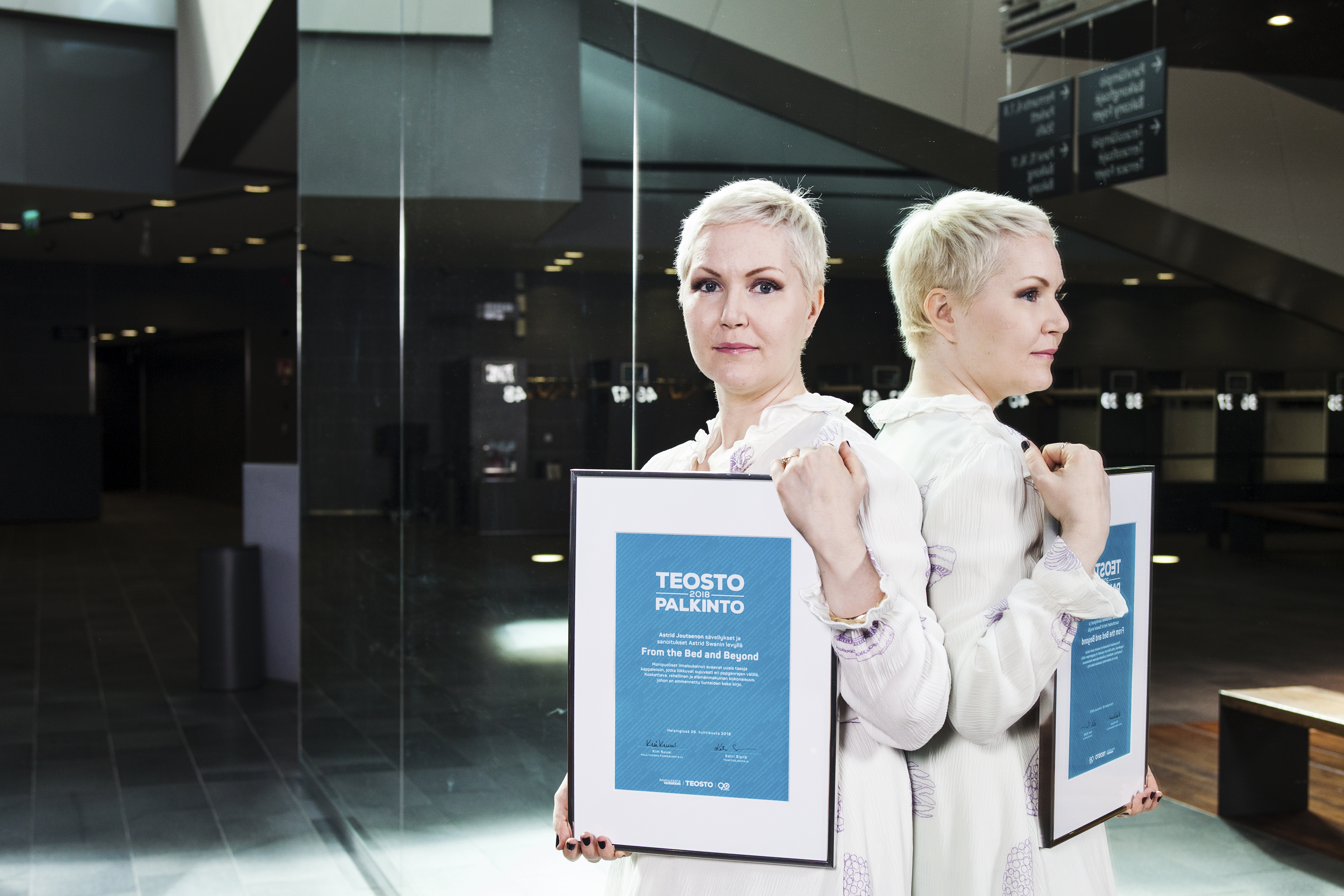 Astrid Swanin From the Bed and Beyond ja Joona Toivanen Trion XX saivat Teosto-palkinnon