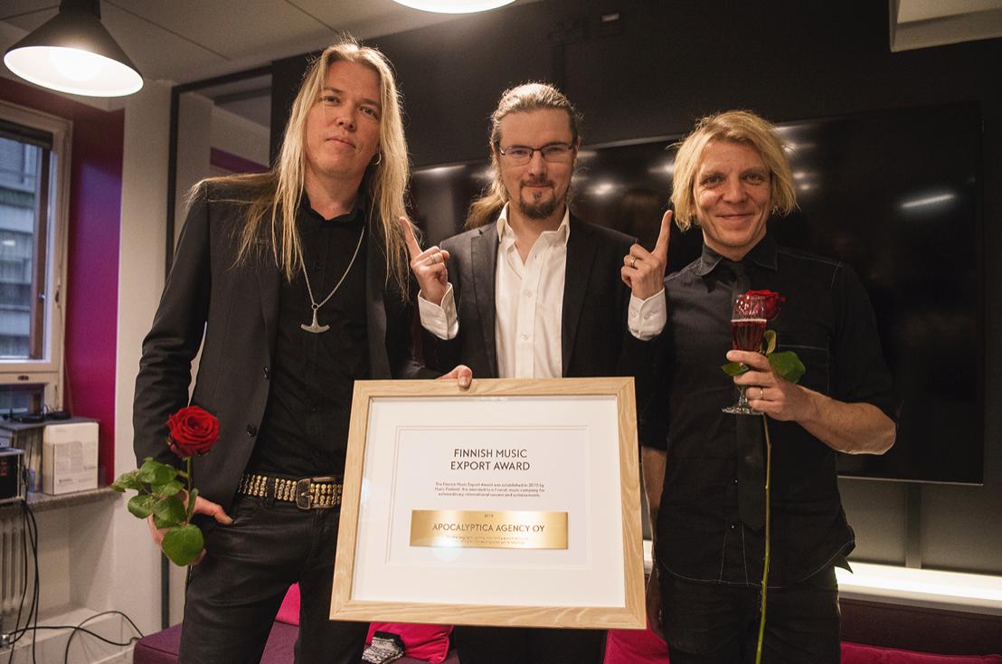 Valtakunnallinen musiikkivientipalkinto myönnettiin Apocalyptica Agencylle