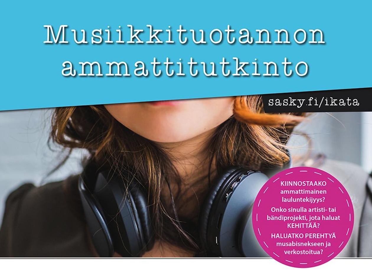 Haku auki: Musiikkituotannon ammattitutkinto (lauluntekijä ja musiikkimanageri)