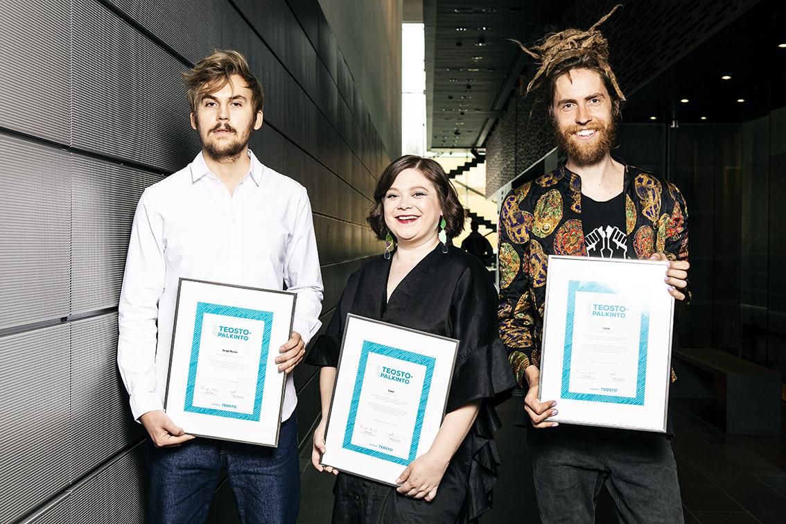 Teosto-palkinnon saivat Color Dolorin Love ja Sebastian Hillin Snap Music